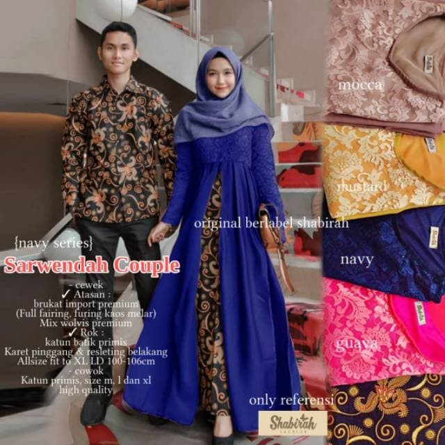 Jual Sarwendah Couple Baju Kebaya Pesta Modern Busana Wanita Fashion