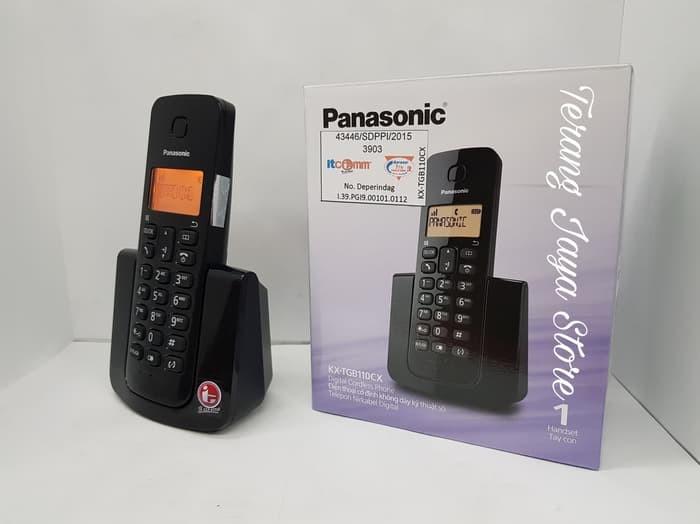 harga Wireless phone panasonic kx-tgb 110 telepon rumah wireless Tokopedia.com