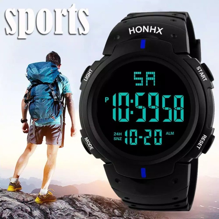 Jam Tangan Pria HONHX Digital Led Sport Army  f6c9221ead