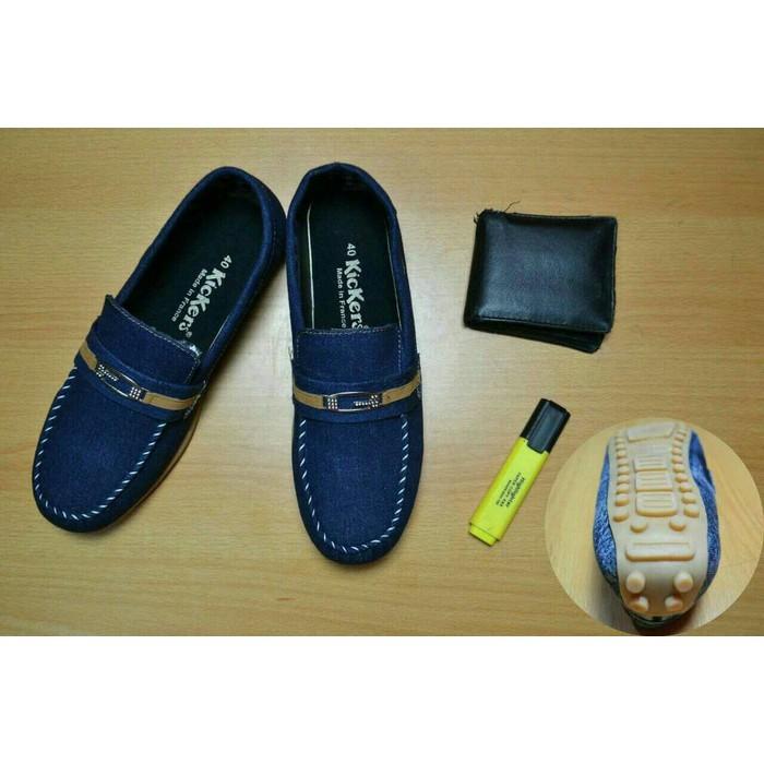Jual Sepatu slip on pria kickers casual slop mewah kuliah santai ... 5c81ff9749
