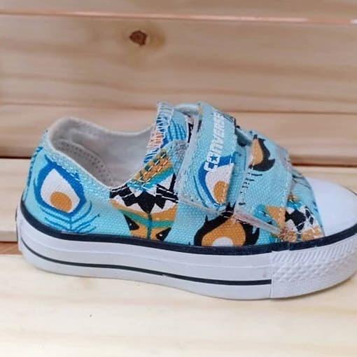 harga Converse bulu merak blue strap kids ( sepatu converse / kado anak ) Tokopedia.com