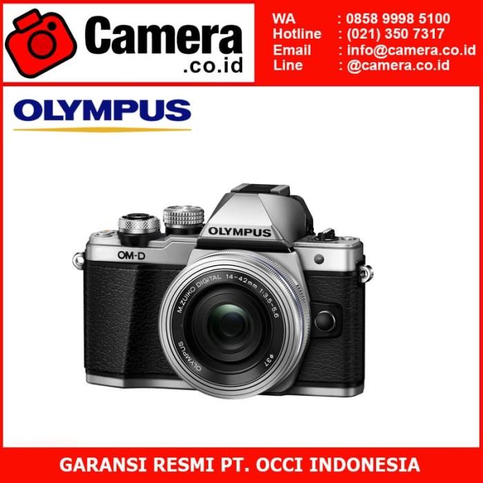 harga Olympus om-d e-m10 mark ii (silver) kit 14-42mm ez + 40-150mm r Tokopedia.com
