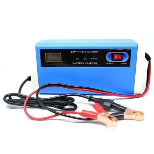 harga Cas baterai aki mobil dan motor atau charger aki 12-24v 10a dgn lcd Tokopedia.com