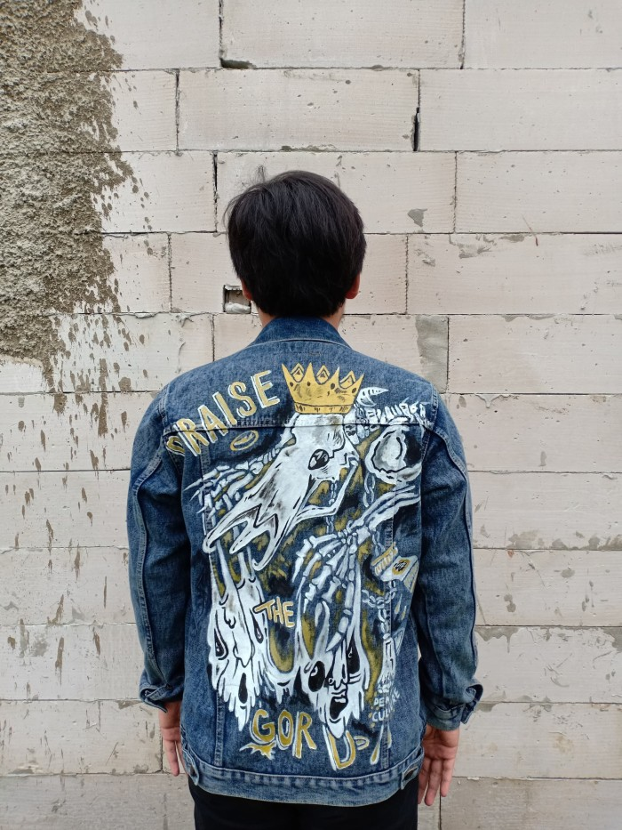 93+ Gambar Jaket Jeans Painting Paling Hist