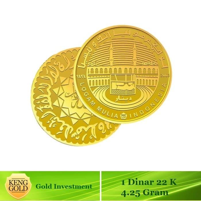 Antam - 1 dinar emas 4.25 gram - kadar emas 91.7% sertifikat antam