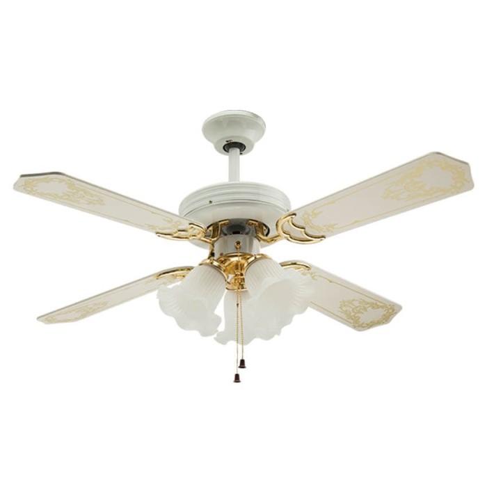 Foto Produk Uchida Ceiling Fan 42 inch Putih 3 Lampu CF125 Kipas Angin Plafon Kayu dari Henbao Berjaya