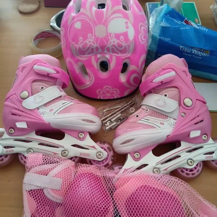 Jual sepatu roda anak lengkap helm body protektor inline skate ... 7d090dbabb