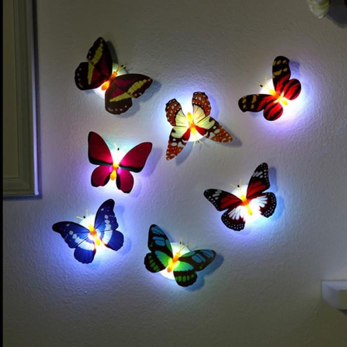 Foto Produk Lampu Hias Kupu Kupu Mini LED Light Kamar Tidur Lucu Murah dari AnerStore