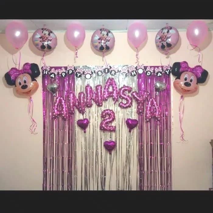 Jual Paket Dekor Ulang Tahun Minnie Mouse Paket Dekor Happy Birthday Jakarta Barat Bos Balloon Tokopedia