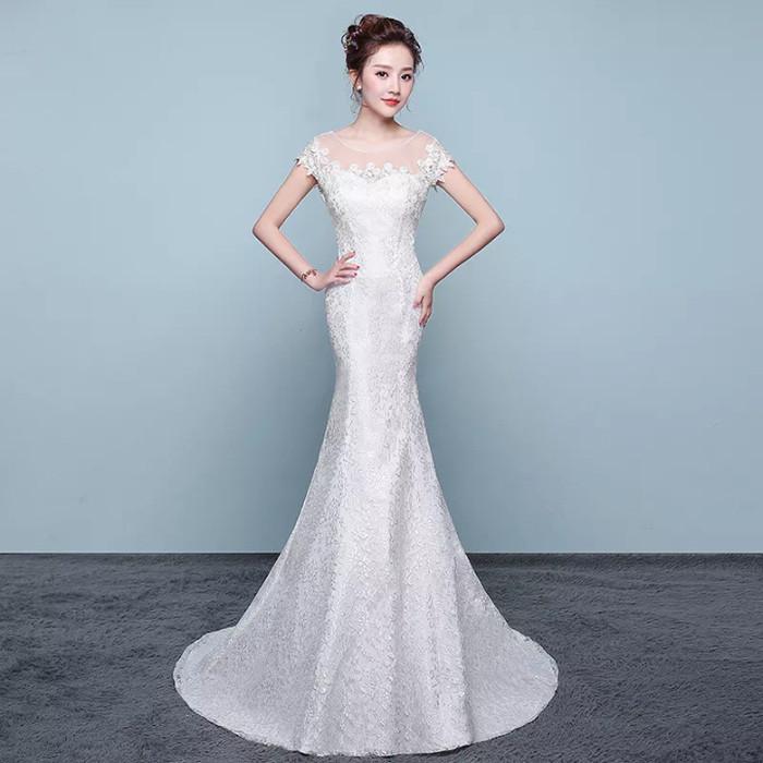 Update Harga Wedding Dress Mermaid Gaun Baju Pengantin Payet Brokat