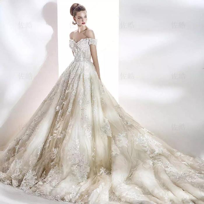 Jual Gaun Pernikahan Sabrina Mewah Premium Ekor Wedding Dress Gown Bridal Kota Semarang Tiara Clay Tokopedia