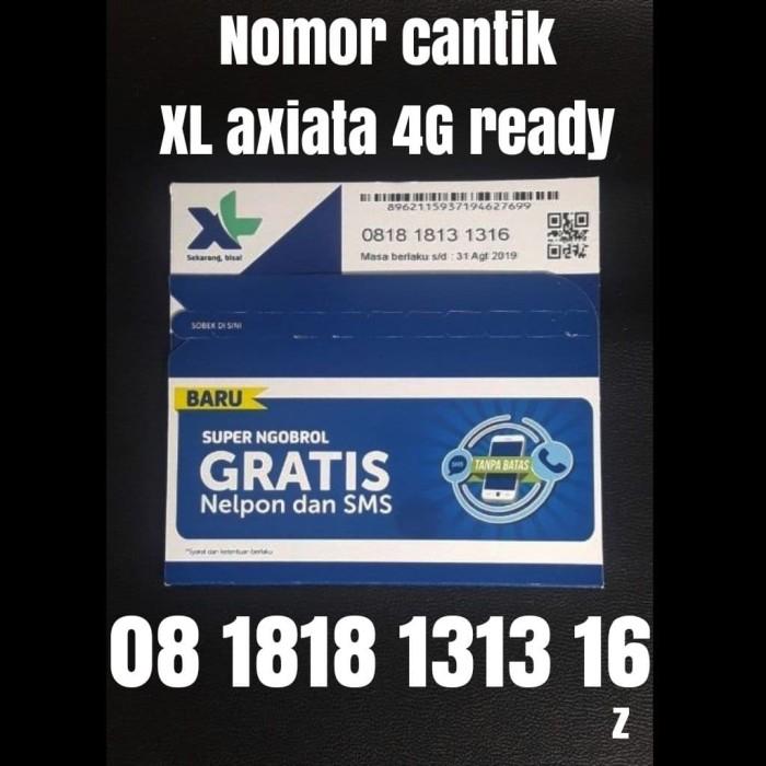 Nomer cantik XL axiata 4G ready nomor kartu perdana double abab 1316
