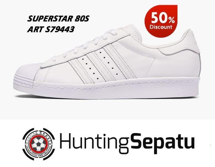 buy online 548d6 6550a Jual Sepatu Casual Sneakers Adidas Superstar 80S Full White Original S79443  - Jakarta Barat - Hunting Sepatu   Tokopedia