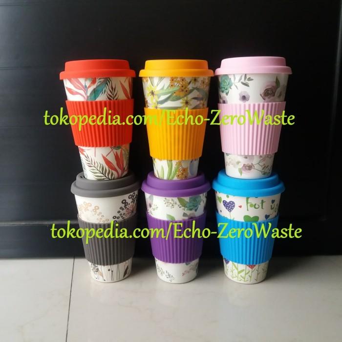 Jual Coffee/Tea Cup  Reusable Tumbler Kopi Teh Zero Waste Ramah Lingkungan  - Biru - DKI Jakarta - Echo - Zero Waste | Tokopedia