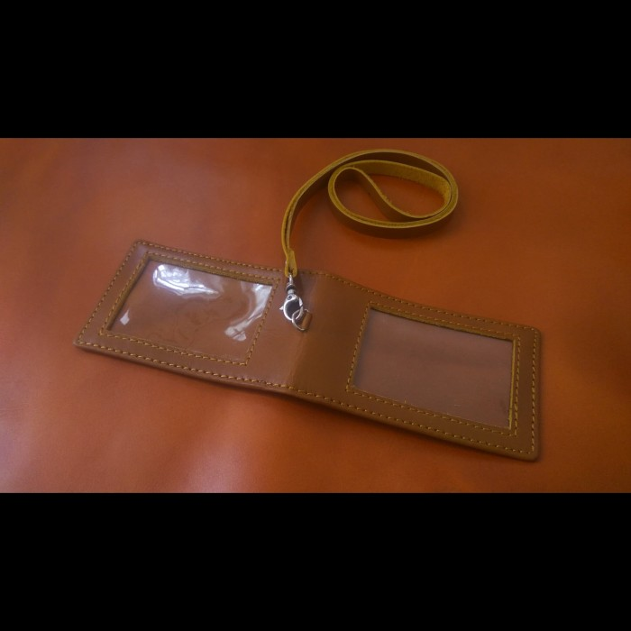 harga Id card holder kulit name tag kulit 2 muka magnet saku Tokopedia.com