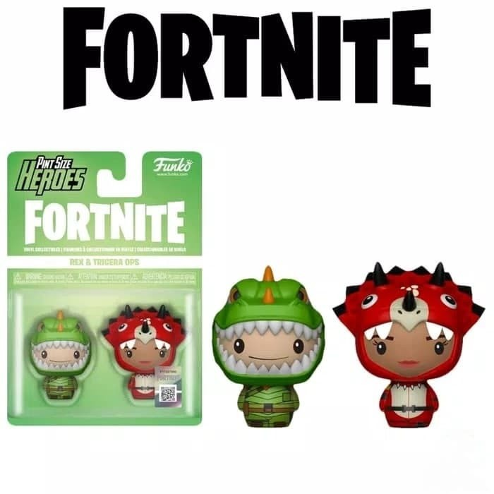 Rex /& Tricera Ops 2-Pack Funko Pint Size Heroes Fortnite