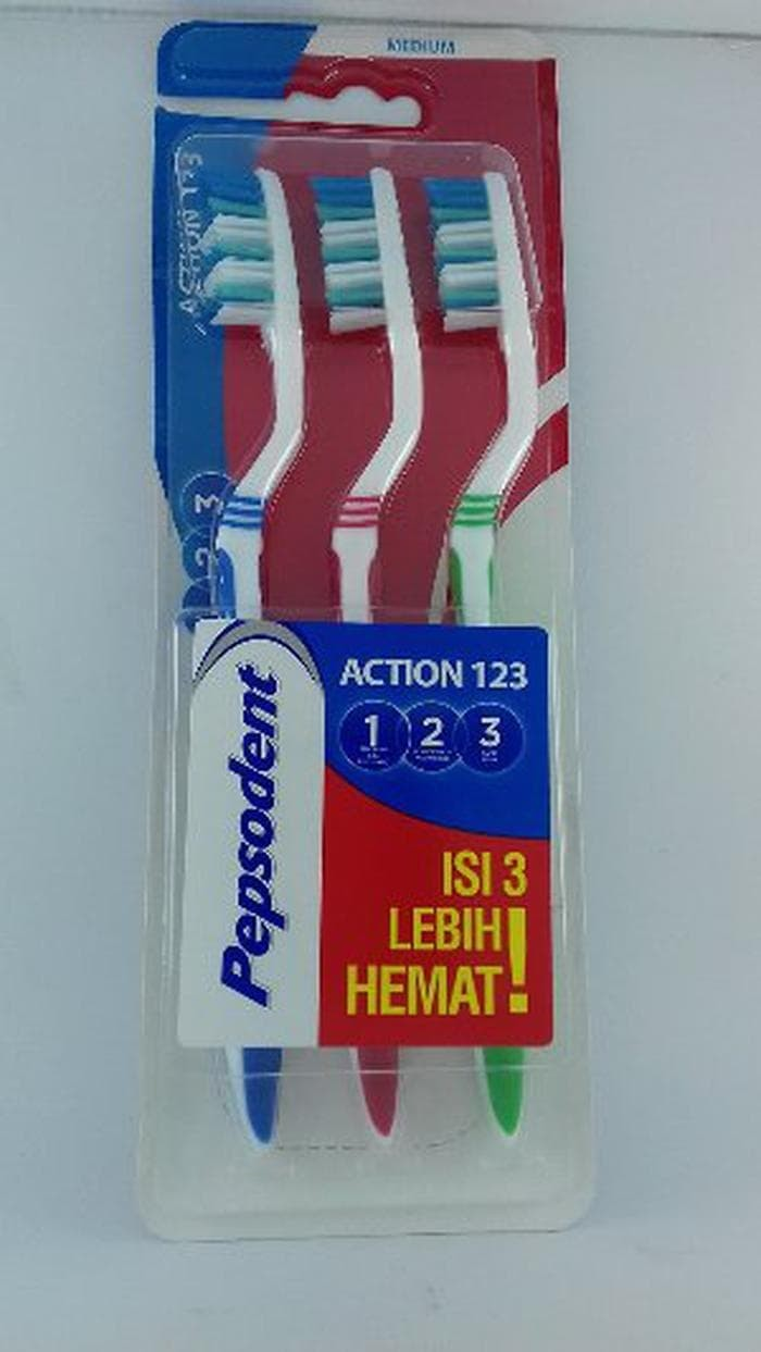 Best Seller PEPSODENT ACTION 123 SIKAT GIGI MEDIUM MULTIPACK ISI 3
