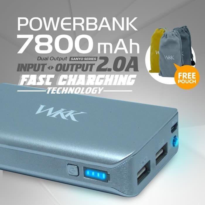 jual powerbank wkk 7800 mah sanyo battery cell 1 year warranty fast rh tokopedia com