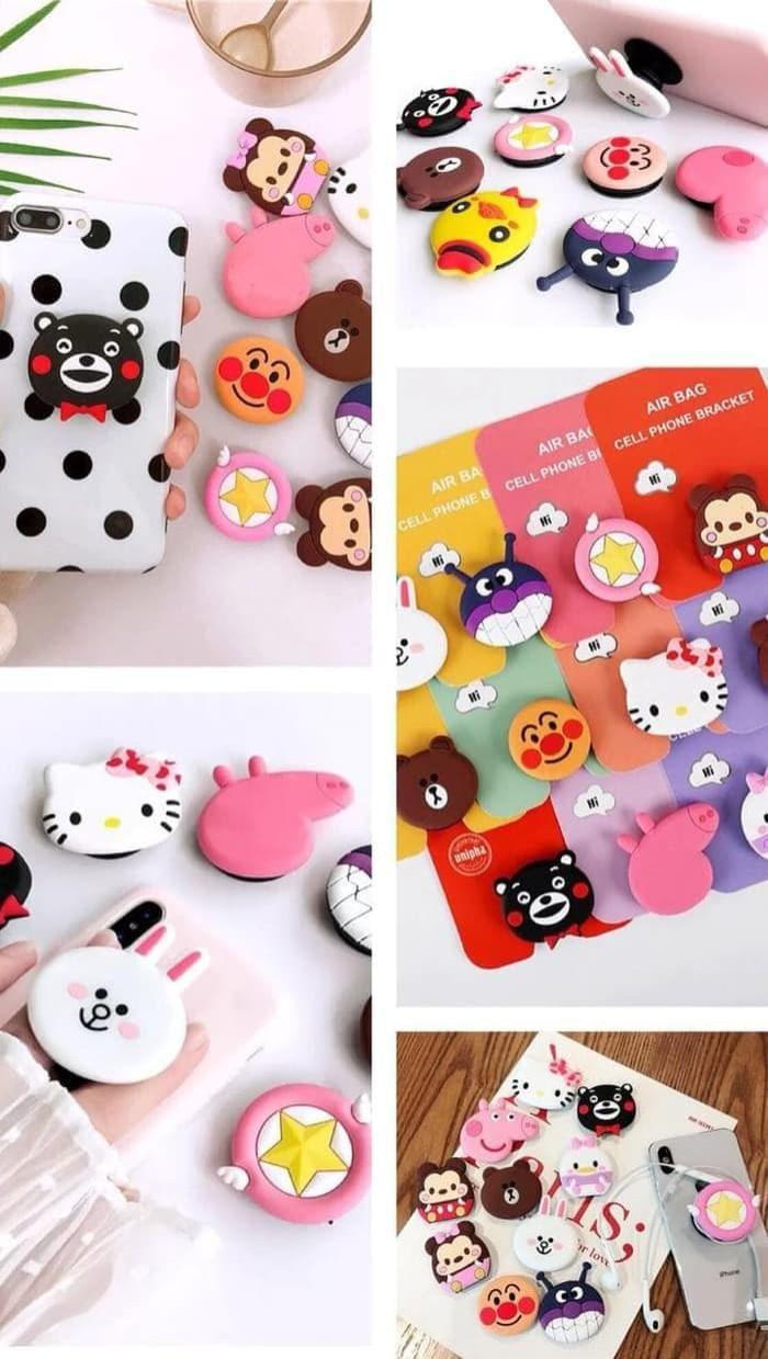 Jual Popsocket 3D Karakter Pop socket karet silicon lembut kartun lucu hp Jakarta Barat Find US Store