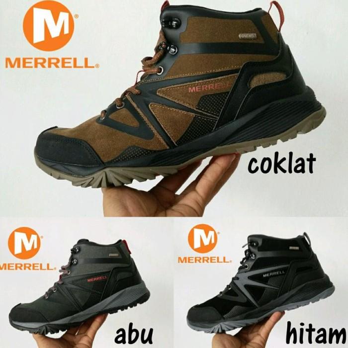 Jual murah best seler!!! sepatu merrell tracking outdoor goretex ... ba3dd38cec