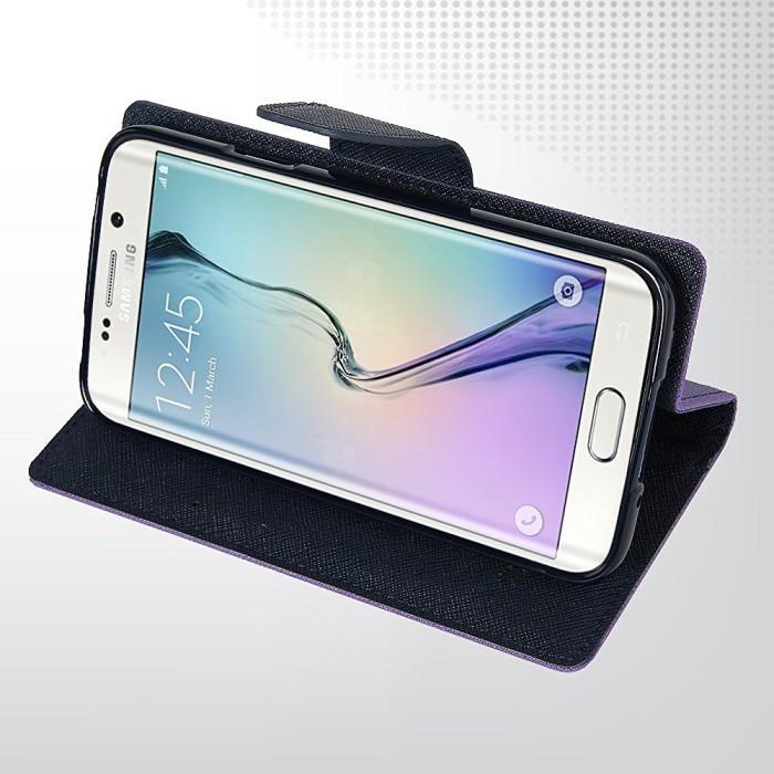 Mercury Fancy Flip Case Casing Cover for Asus Zenfone 5 Ungu Biru