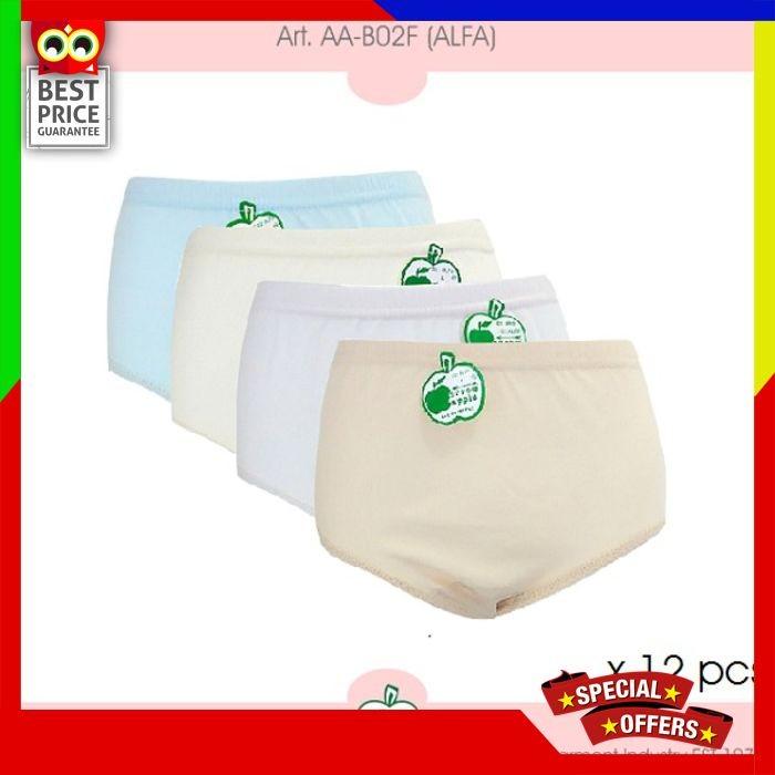 12 Pcs x Arrow Apple Lusinan Celana Dalam Wanita Alfa