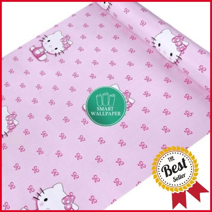 Jual Hello Kitty Ribbon Wallpaper 45cm X 10m Dasuqi Tokopedia