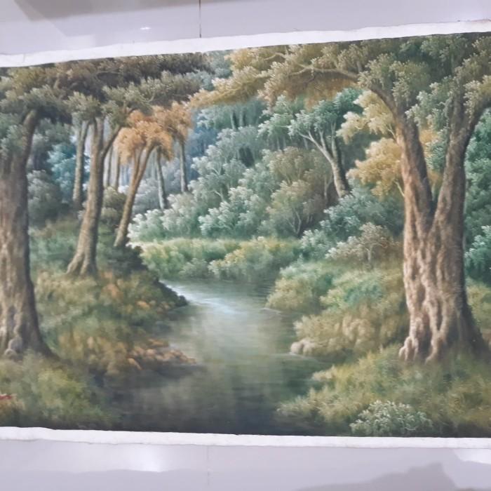 Jual Lukisan Pemandangan Hutan Ukuran 140x80 Cm Kota Palembang