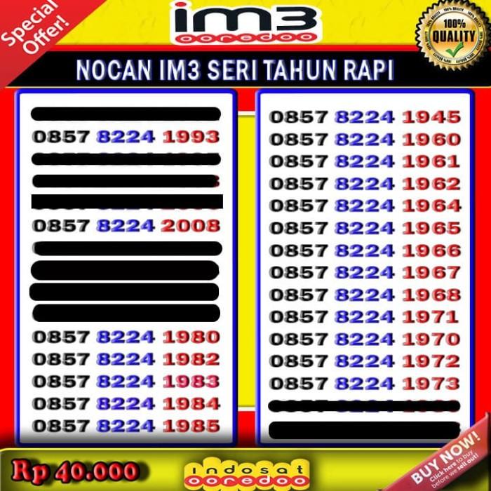 Nomor Cantik Indosat Im3 Murah Rapi gampang diingat seri tahun