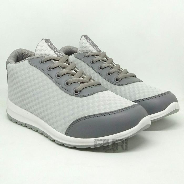 Ando Original Zena Grey - Sepatu Kets Sneakers Sepatu Olahraga Wanita - Abu- abu Muda, 39