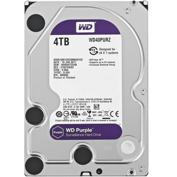 Foto Produk WD Purple 4TB - CCTV HDD - Internal Hard Disk Surveillance dari @Kiosk