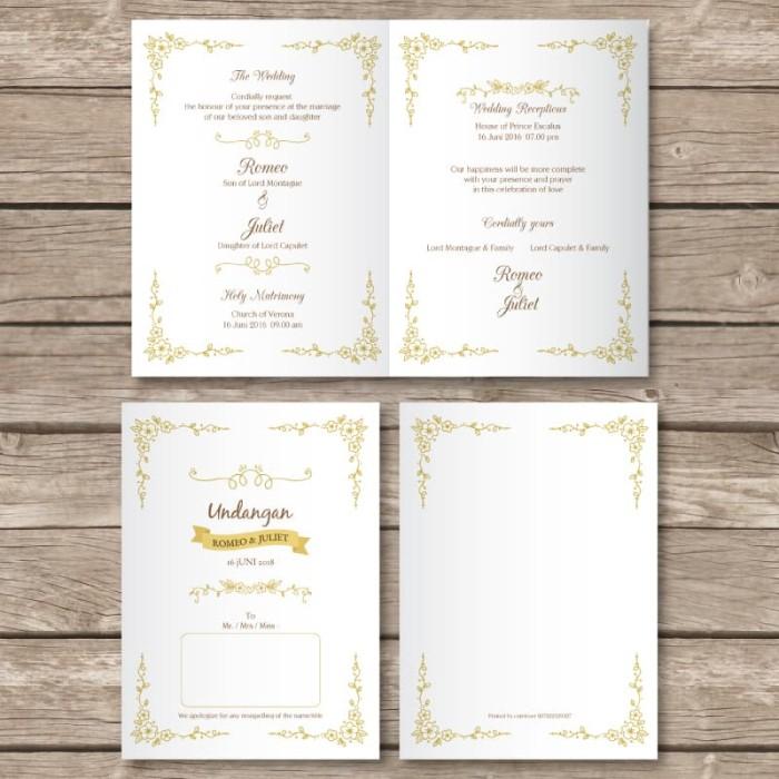 Jual Undangan Pernikahan Kartu Wedding Invitation Card Murah Kode M01 Kota Bandung Cutelover Tokopedia