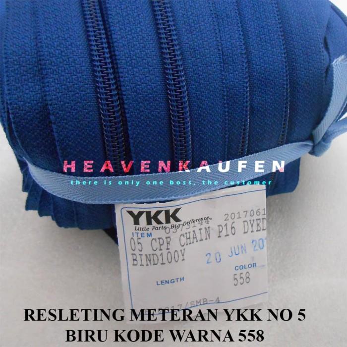 Jual Resleting Zipper Ykk Biru Kode Warna 558 Meteran No 5