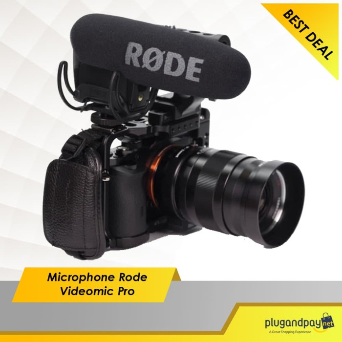 Foto Produk Microphone Rode Videomic Pro With Rycote Lyre Suspension Mount dari plugandpay