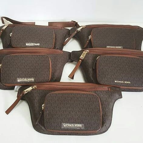 75e7d03d774c Jual Tas Michael Kors original - Mk fanny belt bag sign brown s ...