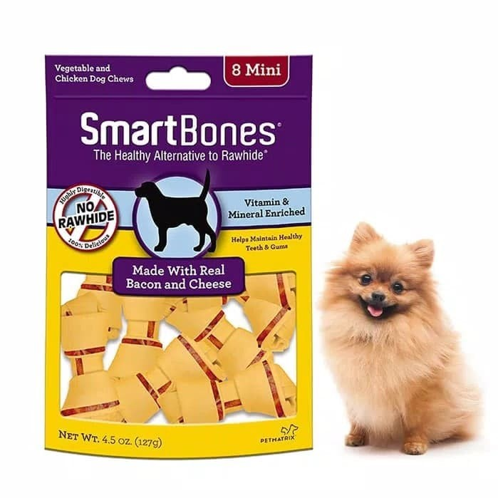 Jual Smartbones Bacon Cheese Mini 8pk Makanan Anjing Dog Snack Kunyah Jakarta Barat House Of Pomeranian Tokopedia