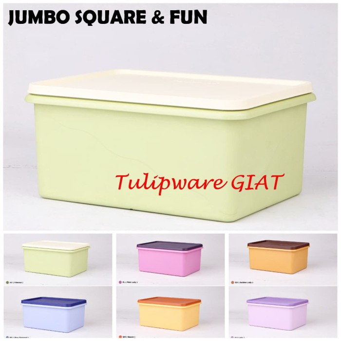 Foto Produk Jumbo Square and Fun Tulipware dari TULIPWARE collection