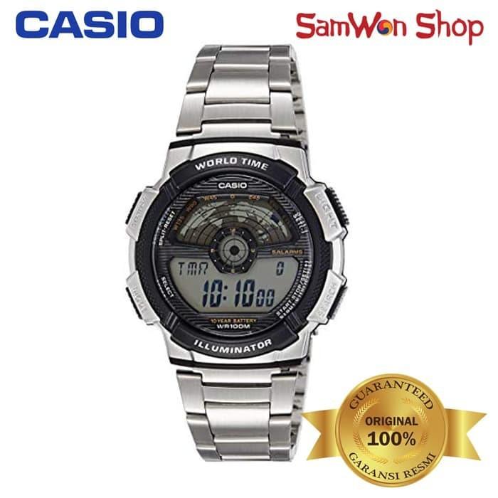 Digital Jam Tangan Pria Casio Ae-1100Wd-1Avdf 100% Original SALF5383