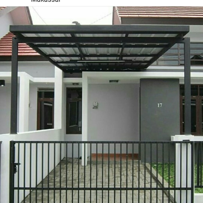 Jual Kanopi Minimalis Berkualitas Dengan Desain Modern Kab Bandung Abdijayastell Tokopedia