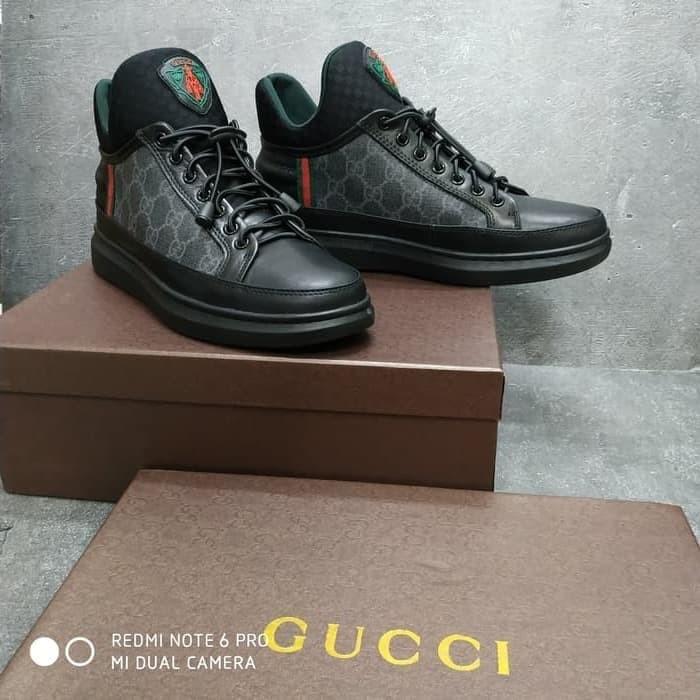 Jual Sepatu Sneakers Gucci Pria Black