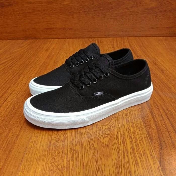 c2ed2ac493 Jual Sepatu Vans Authentic Mono Black White Premium High Quality ...
