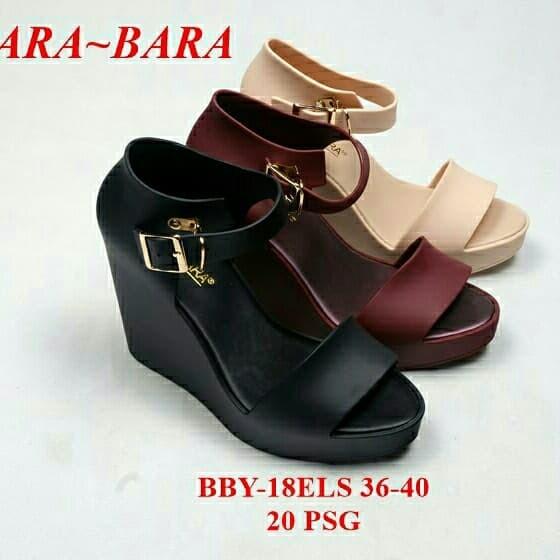 sepatu sandal sepatu wanita jellyshoes heels bara bara model terbaru -  396d293166