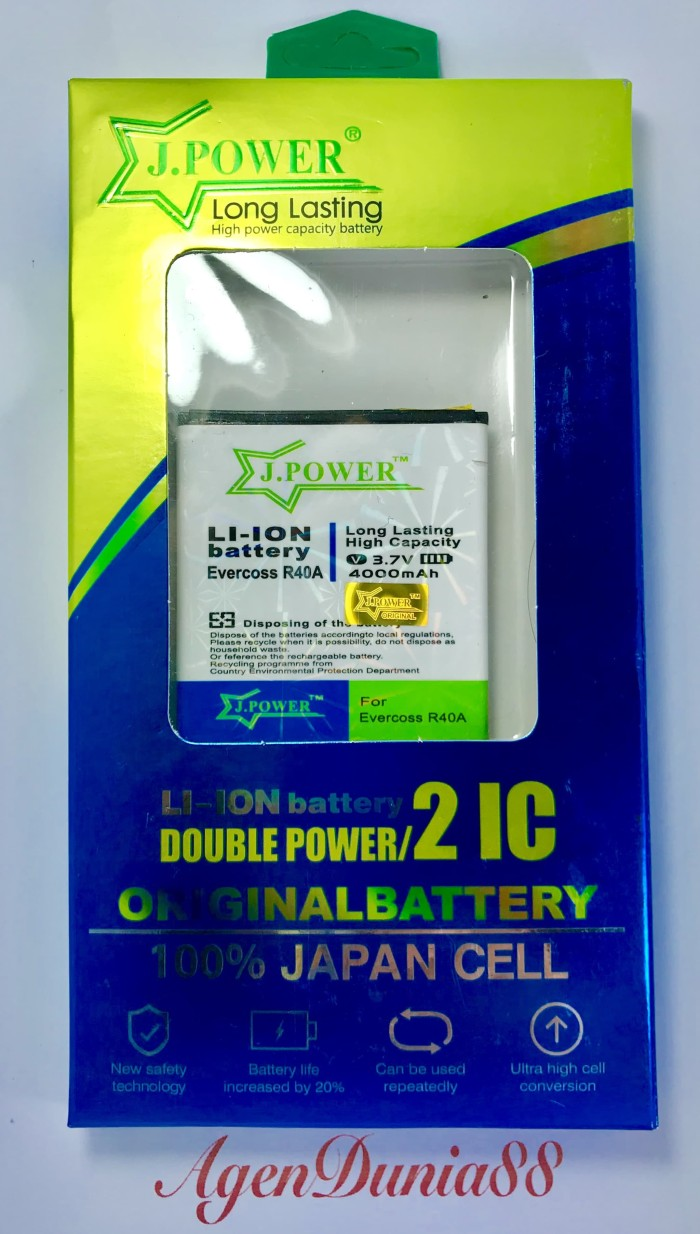 harga Baterai evercoss r40a winner t ultra - a7b - double power - 4000 Tokopedia.com