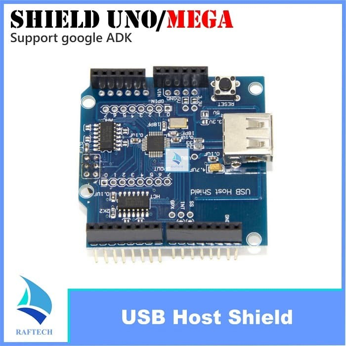 Foto Produk USB Host Shield for Arduino Uno Mega support Google Android ADK dari RAFTECH