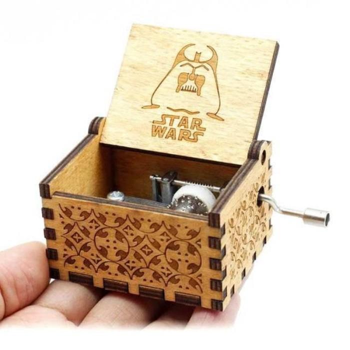 harga Kotak musik antik wooden music box engraving - star wars Tokopedia.com