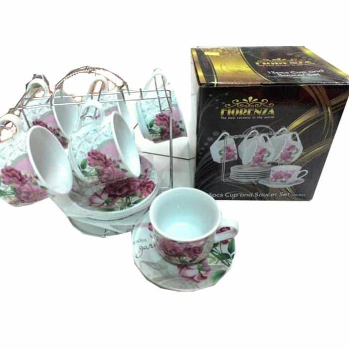 Foto Produk Tea Set FIORENZA ROSE 13 Pcs + Rack dari TOKO ERWIN TANJUNG