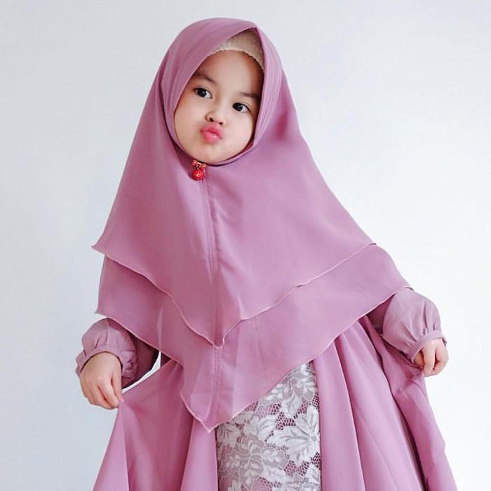 Jual Jilbab Hijab Khimar Anak Bayi Balita Pinguin Penguin 2 Layers Kota Surabaya Queen Naura Tokopedia