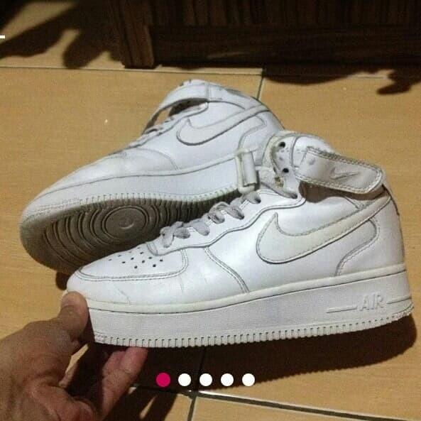 Sepatu Nike Air Force 1 Mid '70 Triple White Original