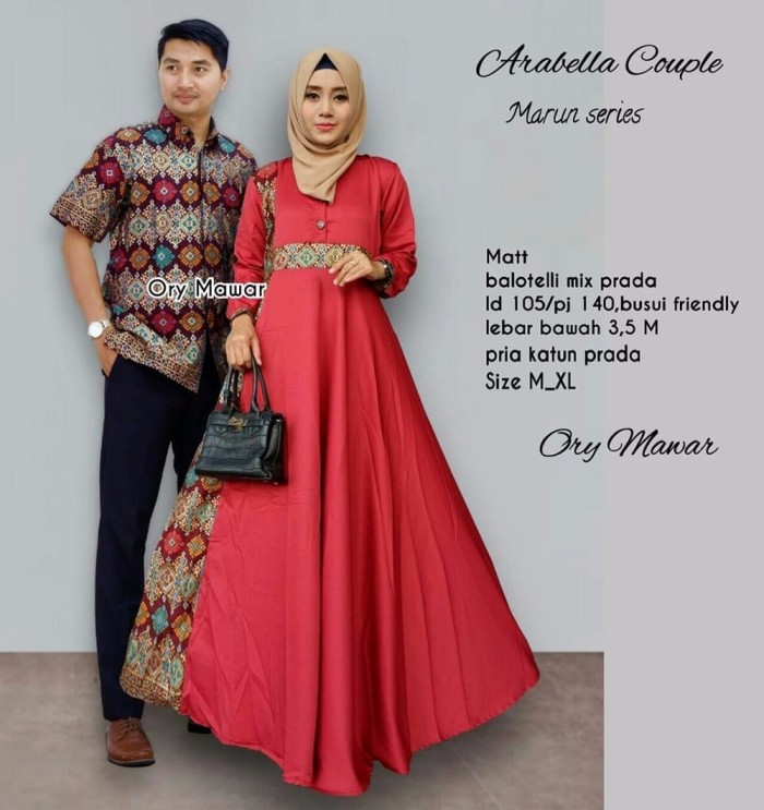 Jual Model Baru Baju Gamis Couple Baju Batik Couple Sarimbit Batik Gamis P Kota Tangerang Bella Cantik Tokopedia