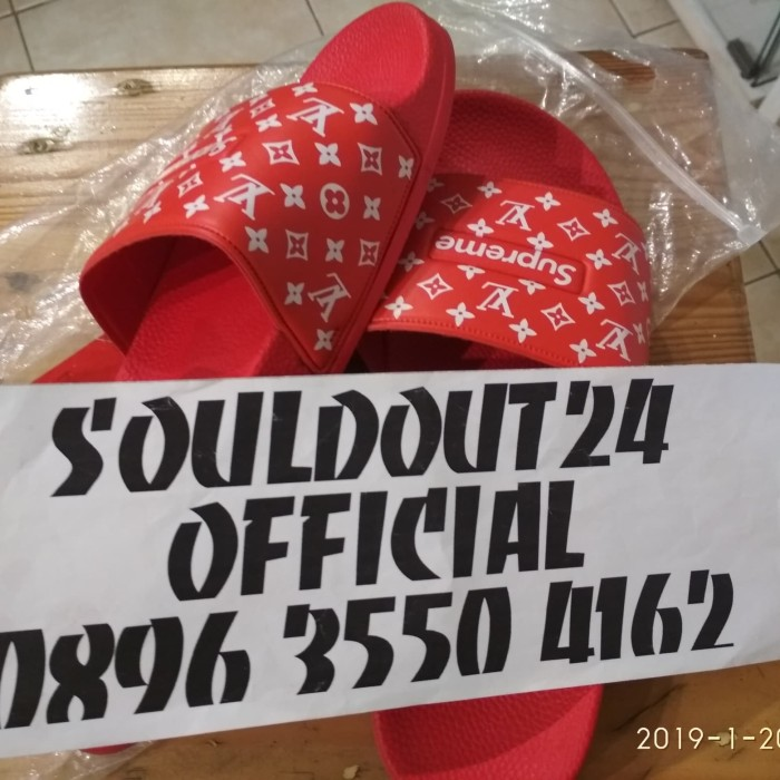 2fb8cd6b179d Jual Sandal supreme X Louis vuitton slider - Kota Bekasi ...